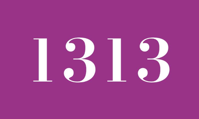 エンジェルナンバー 1313